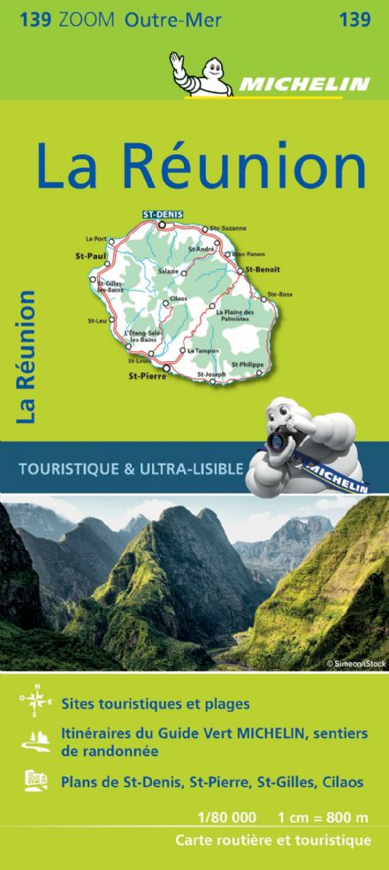 Map 139 - La Réunion - Michelin Zoom Map